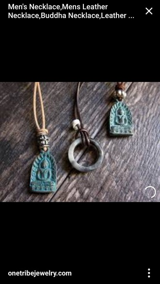 jewels bohemian pemdant necklace boho hippie buddha religion tribal pattern ethnic tibetan aztec buddhist