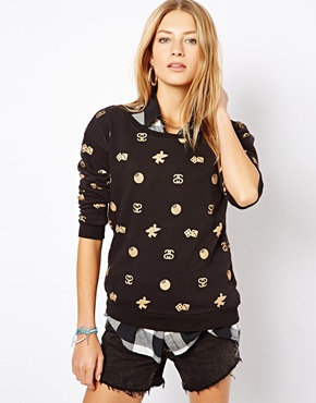 Stussy | Stussy All Over Print Crew Neck Sweatshirt at ASOS