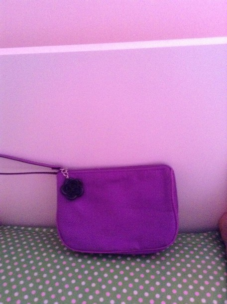 bag lancôme paris bag in  purple. whit black flower