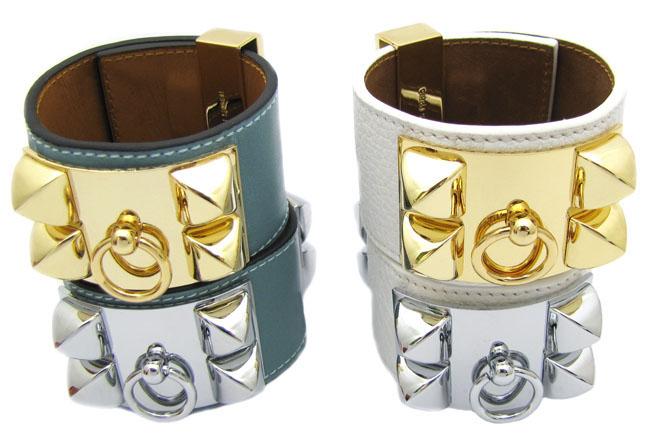 Hermes Collier de Chien Bracelet, Black Hermes CDC Cuff Replica Gold - Price: $78.00   HooJewelry.cc