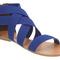 Womens office herman elastic blue elastic sandals | ebay