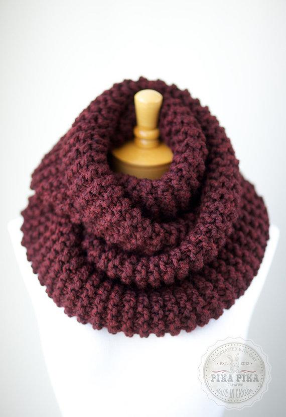 Chunky infinity scarf chunky knit scarf in by PikaPikaCreative