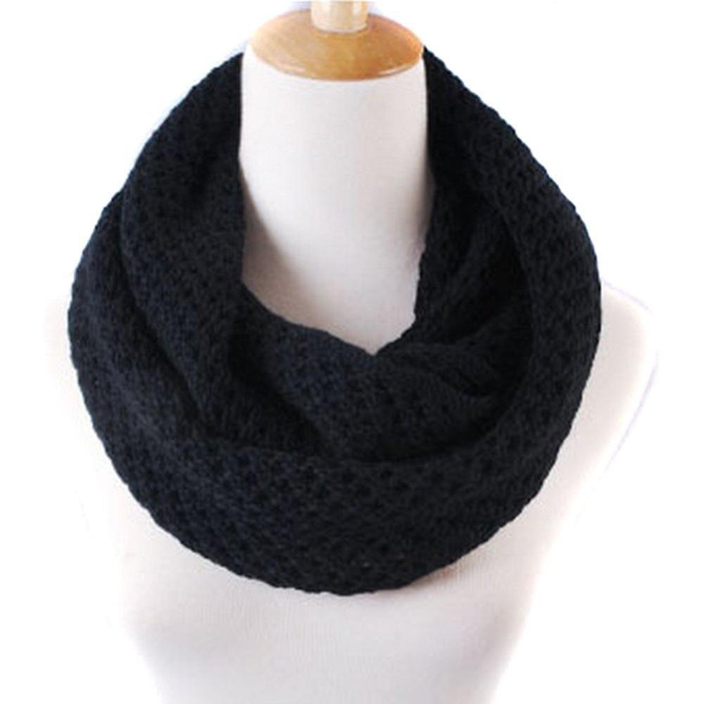 Fashion Women Winter Warm Chunky Knit Infinity Soft Loop Scarf,Black 5 pcs/lot-in Scarves from Apparel & Accessories on Aliexpress.com