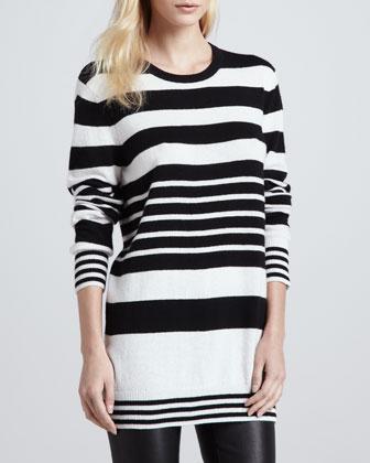 Equipment Rei Mixed-Stripe Cashmere Sweater - Bergdorf Goodman