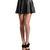 MOGAN Micro Soft Faux Leather High Waist Pleated Skater Sexy Mini Skirt | eBay