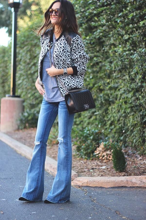 jacket t-shirt jeans bag