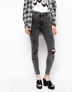 Cheap Monday | Cheap Monday Spray On Super Skinny Jeans With Distressing at ASOS