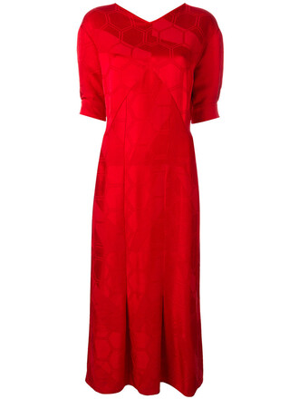 dress women cotton red
