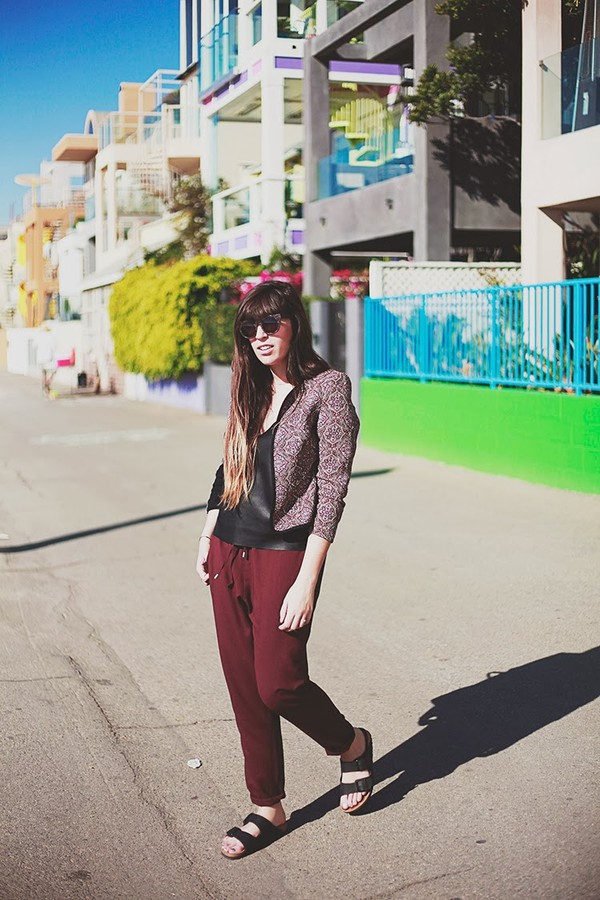 fringe and frange pants shoes t-shirt jacket sunglasses bag