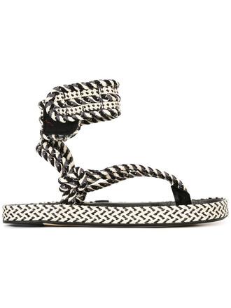 women sandals leather black shoes
