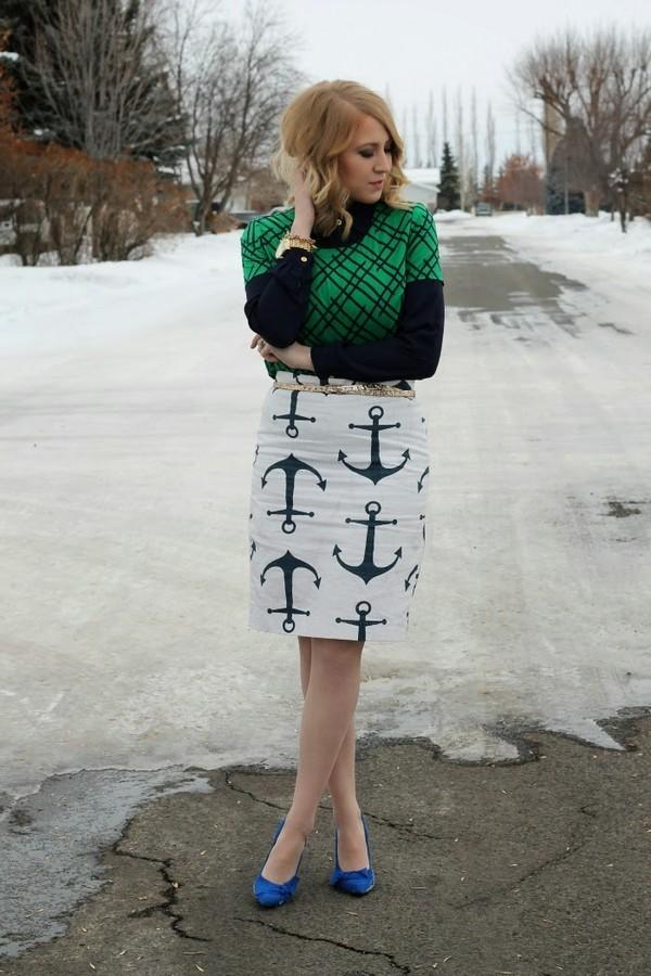 fashion flirtation blouse skirt shoes jewels belt