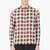 maison kitsun red and white plaid button_down shirt