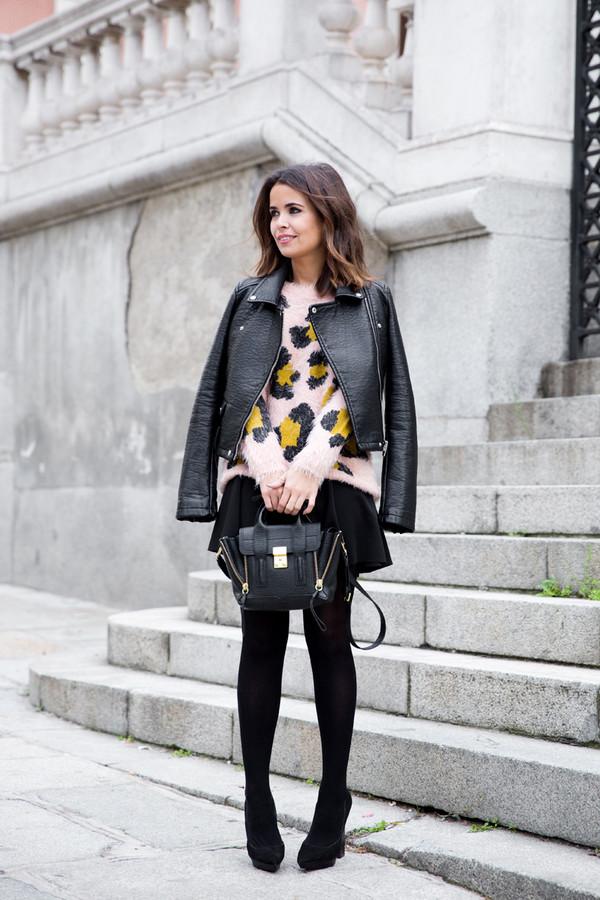 collage vintage jacket skirt shoes bag jewels sweater