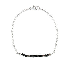Faceted Black Spinel Bracelet – Keltie Leanne Designs