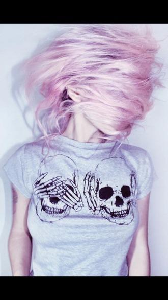 top skull t-shirt soft grunge bones funny t-shirt