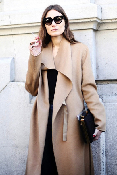 le fashion blogger coat sweater