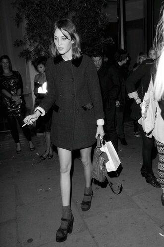 shoes black black shoes high heels black heels sandal heels alexa chung coat