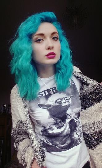 shirt yoda star wars t-shirt pinterest black and white tumblr