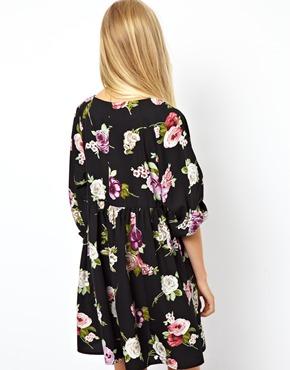 ASOS | ASOS Winter Floral Smock Dress at ASOS