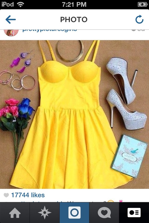 dress yellow dress