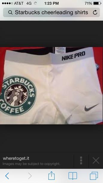 shorts nike starbucks imprinted. white