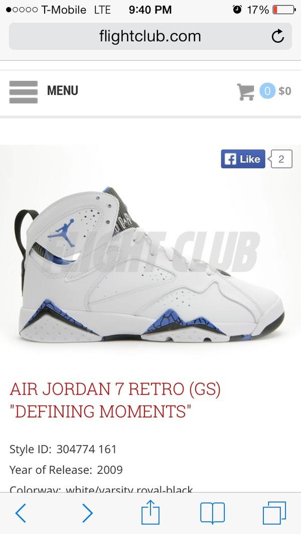 shoes white blue air jordan air jordans 7