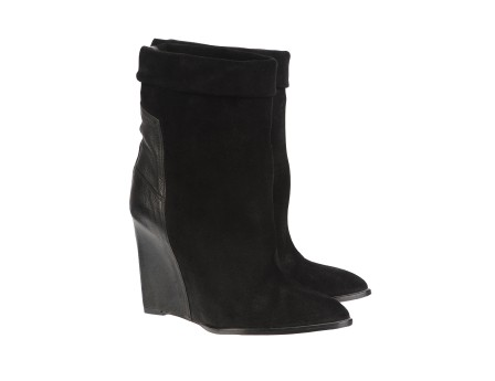 Darlon Boots - Black suede ankle boots and leather - Black - Accessories - Women - IRO