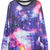 [US$31.92] - Purple Galaxy Long Sleeves Round Neck Chunky Pullover Sweatershirts : FoxFriday.com