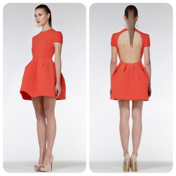 dress orange dress orange open back open back dresses backless dress backless