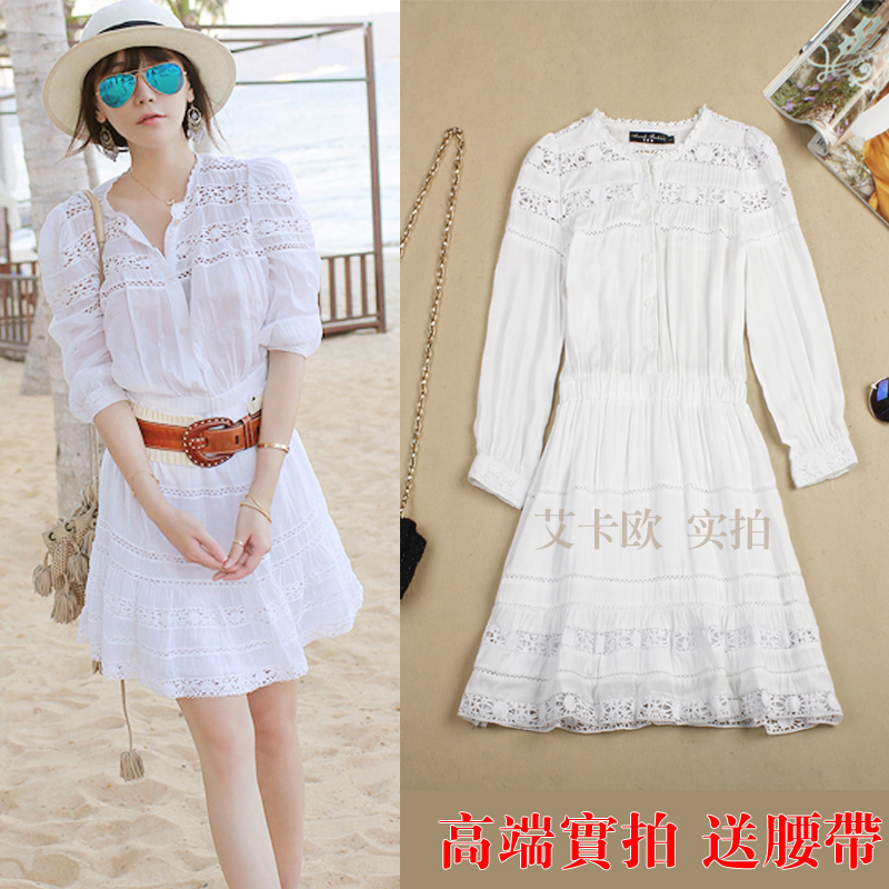 Etoile Isabel Marant Anita Embroidered Cutout Cotton Dress lace embroidery cutout one piece dress size S L-inDresses from Apparel & Accessories on Aliexpress.com
