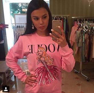 sweater aurora pink vogue
