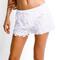 White dash short - elite fashion swimwear