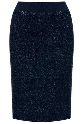 Lurex Pencil Skirt - Topshop