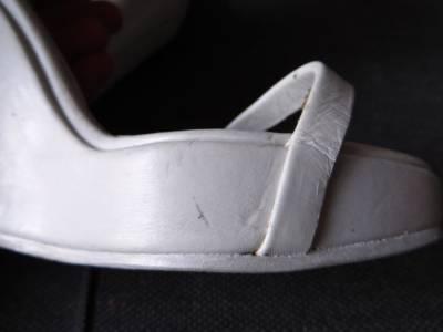 Rick Owens White Leather Rhino Wedge Ribbed Cuff Sandals Heels 37 UK4 | eBay