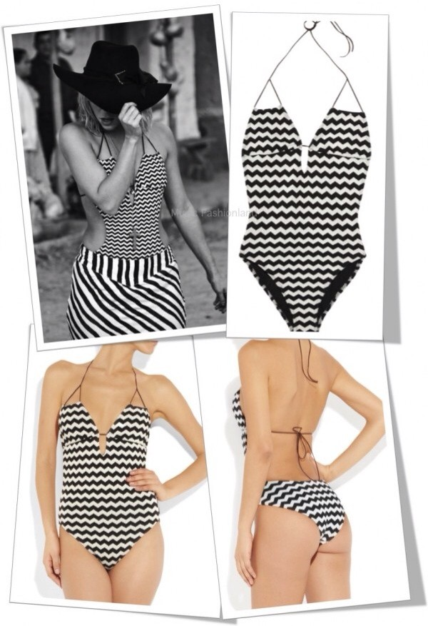 swimwear shakira one piece swimsuit stripes