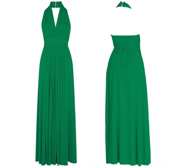 emerald dress evening dress prom dress maxi dress chiffon dress chiffon bridesmaid bridesmaid dress