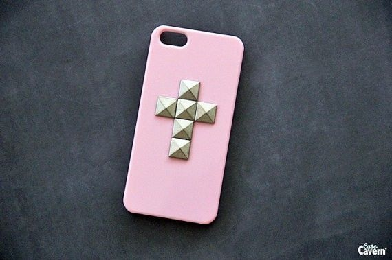 Pink iPhone Case iPhone 5 Case Cross iPhone 4 Case Studded iPhone 4S Case | eBay
