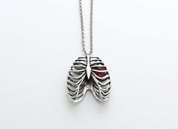 jewels necklace heart rib cage valentines day