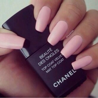 nail polish nails matte top coat matte top caot mat top coat chanel where to get that pink nails pink matte pink mat pink mat polish