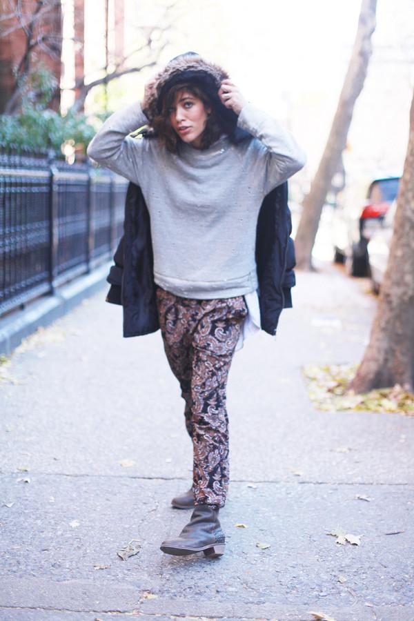 trop rouge sweater pants coat shoes jewels