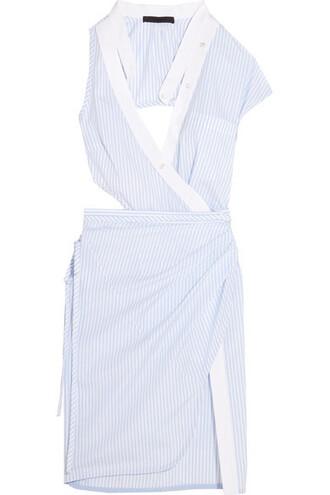 dress wrap dress white cotton