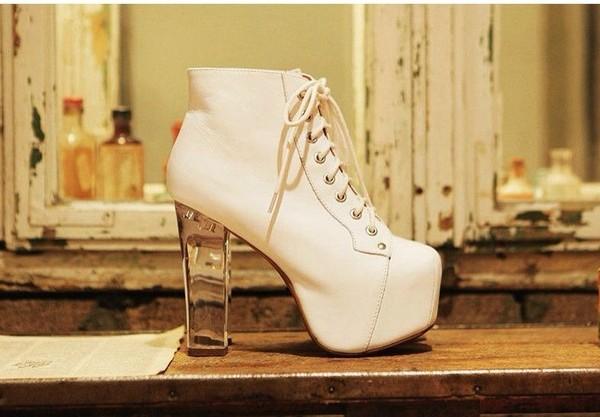shoes ankle transparent heels boots heels