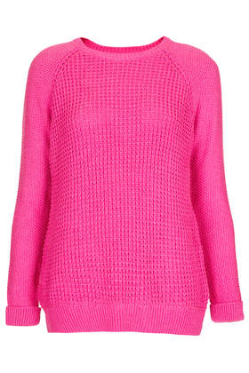 Knitted Mix Stitch Jumper - Knitwear  - Clothing  - Topshop