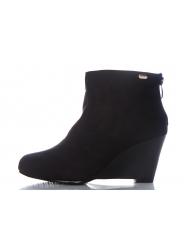 Koturna z zamkami kolor czarny / Botki / Obuwie - Modne obuwie, stylowe torebki, buty - sklep internetowy - Supermoda24.pl