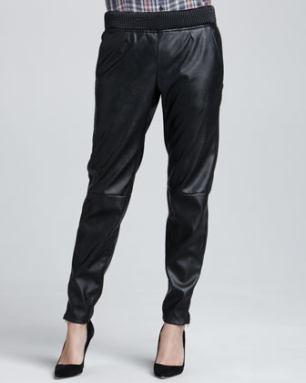 Blank | Relaxed Faux-Leather Pants - CUSP