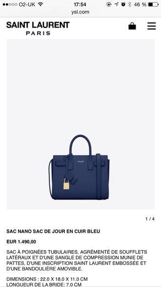 bag blue bag ysl saint laurent small bag shoulder bag style
