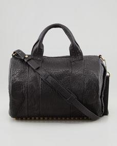 Alexander Wang Rocco Stud-Bottom Satchel Bag, Brass - Bergdorf Goodman