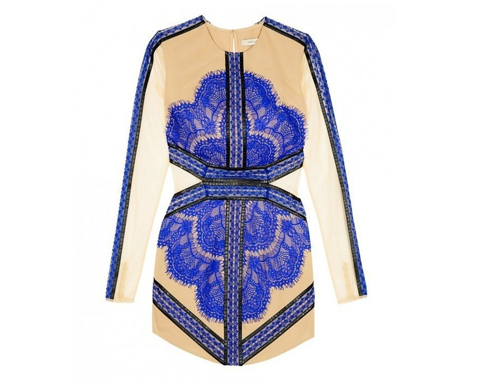 Aliexpress.com : Buy Free shiping CHINA BLUE Lace Mini Dress long sleeveDress J319 from Reliable dress with suppliers on ED FASHION