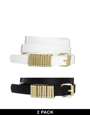 ASOS | ASOS 2 Pack Multi Metal Keeper Waist Belt at ASOS