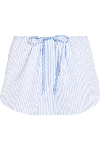 shorts cotton blue sky blue